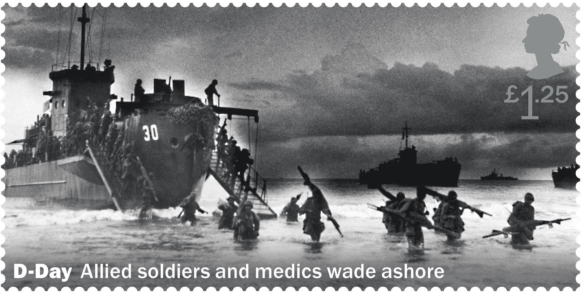 APOLOGY Royal Mail has apologised as this stamp actually showed US troops on a beach in Asia rather than the D Day landings